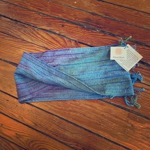 Handwoven small infinity scarf